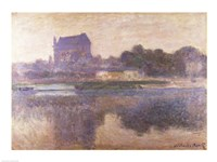 Vernon Church in Fog, 1893 by Claude Monet, 1893 - various sizes, FulcrumGallery.com brand