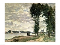 The Banks of the Seine at Argenteuil, 1872 Fine Art Print