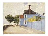 The Blue House, Zaandam by Claude Monet - various sizes