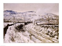 Train in the Snow at Argenteuil by Claude Monet - various sizes