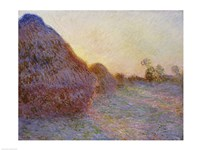 Haystacks Fine Art Print