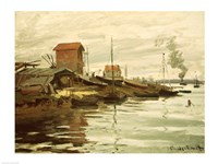 The Seine at Petit-Gennevilliers, 1872 by Claude Monet, 1872 - various sizes, FulcrumGallery.com brand