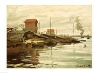 The Seine at Petit-Gennevilliers, 1872 Fine Art Print