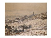 Winter in Giverny, 1885 Fine Art Print