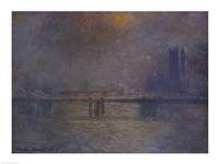 Charing Cross Bridge, The Thames by Claude Monet - various sizes