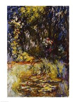 Corner of a Pond with Waterlilies, 1918 Fine Art Print
