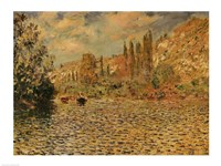 The Seine at Vetheuil Fine Art Print
