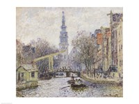 Canal a Amsterdam, 1874 Framed Print