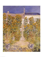 The Artist's Garden at Vetheuil Detail by Claude Monet - various sizes
