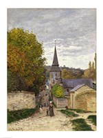Street in Sainte-Adresse, 1868-70 Fine Art Print