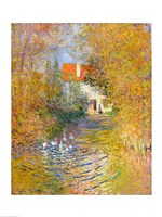 The Duck Pond, 1874 Fine Art Print