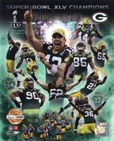 Green Bay Packers Super Bowl XLV Champions PF Gold Composite Fine Art Print