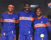 Amar'e Stoudemire, Chauncey Billups, & Carmelo Anthony  2010-11 Press conference Fine Art Print