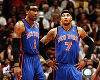 Carmelo Anthony & Amar'e Stoudemire 2010-11 Action Fine Art Print