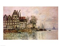 The Port of Amsterdam Framed Print