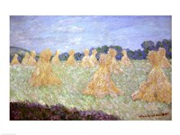 Haystacks, The young Ladies of Giverny, Sun Effec Fine Art Print