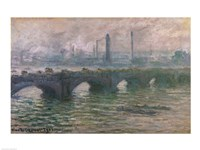 Waterloo Bridge, 1901 Fine Art Print