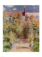 The Garden at Vetheuil, 1881 Fine Art Print