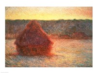 Haystacks at Sunset, Frosty Weather, 1891 Fine Art Print