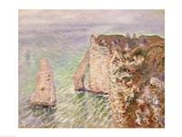 L'Aiguille and the Porte d'Aval, Etretat, 1886 by Claude Monet, 1886 - various sizes