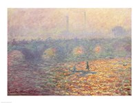 Waterloo Bridge, 1900 Fine Art Print