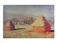 Two Haystacks, 1891 Fine Art Print