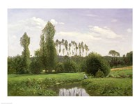 View at Rouelles, 1858 by Claude Monet, 1858 - various sizes, FulcrumGallery.com brand
