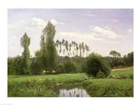 View at Rouelles, 1858 Fine Art Print