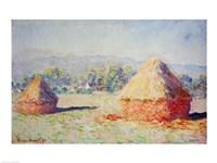 Haystacks in the Sun, Morning Effect, 1891 Fine Art Print