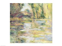 Waterlily Pond: The Bridge by Claude Monet - various sizes
