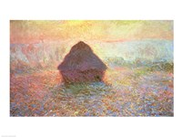 Haystack, Hazy Sunshine, 1891 by Claude Monet, 1891 - various sizes
