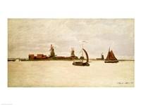 The Outer Harbour at Zaandam, 1871 Fine Art Print