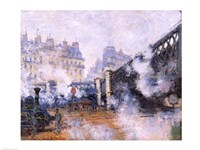 The Pont de l'Europe, Gare Saint-Lazare, 1877 by Claude Monet, 1877 - various sizes