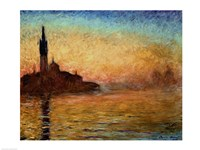 View of San Giorgio Maggiore, Venice by Twilight, 1908 by Claude Monet, 1908 - various sizes