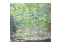 The Waterlily Pond with the Japanese Bridge, 1899 Framed Print