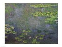 Waterlilies (green with blue) by Claude Monet - various sizes, FulcrumGallery.com brand