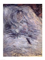 Camille Monet on her Deathbed by Claude Monet - various sizes