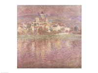 Vetheuil, sunset, 1901 Fine Art Print