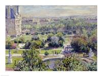 View of the Tuileries Gardens, Paris, 1876 Fine Art Print