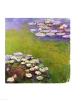 Waterlilies, Harmony in Blue-17, 1914 by Claude Monet, 1914 - various sizes, FulcrumGallery.com brand