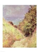 Chemin de la Cavee, Pourville, 1882 by Claude Monet, 1882 - various sizes