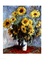 Still life with Sunflowers, 1880 Framed Print
