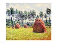 Haystacks at Giverny, 1884 Fine Art Print