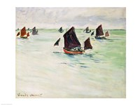 Fishing Boats on the Large de Pourville, 1882 by Claude Monet, 1882 - various sizes - $16.49