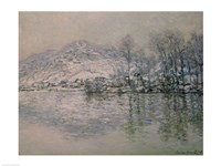 The Seine at Port Villez in Winter, 1885 by Claude Monet, 1885 - various sizes, FulcrumGallery.com brand