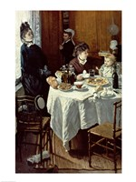 The Breakfast, 1868 Fine Art Print