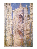 Rouen Cathedral, West Facade, Sunlight, 1894 Framed Print