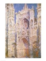 Rouen Cathedral, West Facade, Sunlight, 1894 Fine Art Print