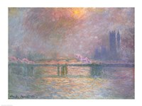 The Thames with Charing Cross bridge, 1903 by Claude Monet, 1903 - various sizes