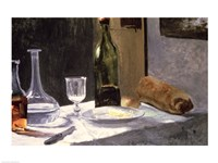 Still Life with Bottles, 1859 Fine Art Print